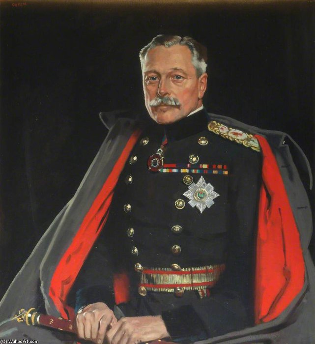 Erste Earl Haig, Feldmarschall von William Newenham Montague Orpen (1878-1931, Ireland)