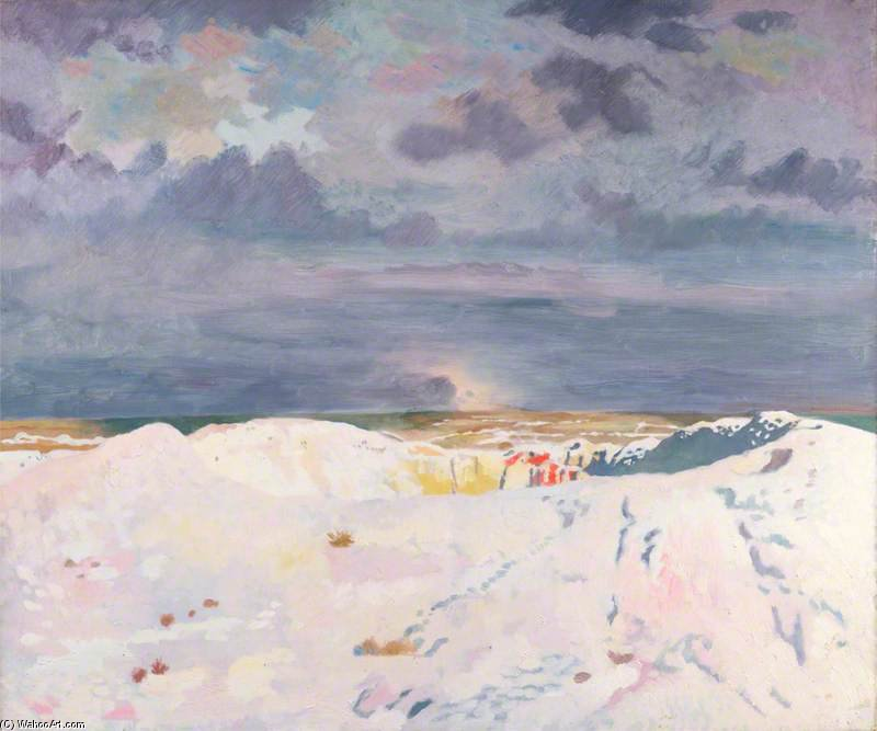 The Great Mine, La Boisselle von William Newenham Montague Orpen (1878-1931, Ireland) | Kunstdrucke Auf Leinwand | ArtsDot.com