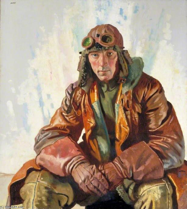 Der Unteroffizier Pilot, Royal Flying Corps von William Newenham Montague Orpen (1878-1931, Ireland) | Malerei Kopie | ArtsDot.com