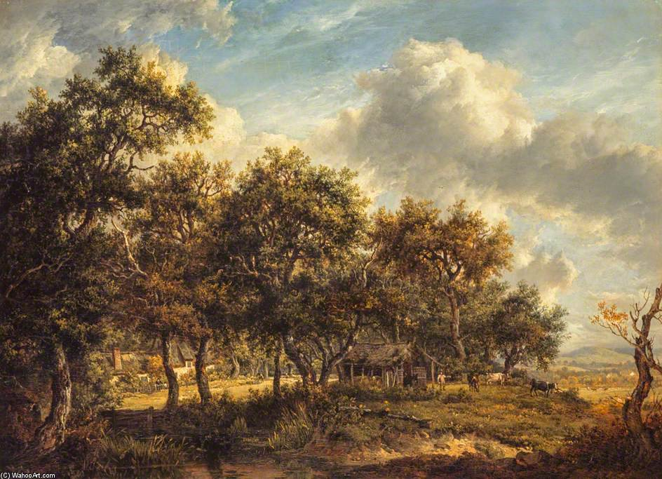 Ein Woodmans Cottage von Patrick Nasmyth (1787-1831, United Kingdom)