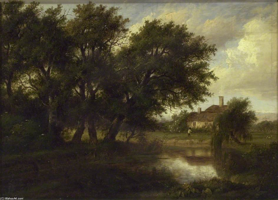 Old Cottages On The Brent, blickend in Richtung Harrow von Patrick Nasmyth (1787-1831, United Kingdom)