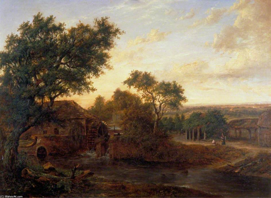 Watermill In Carshalton, London von Patrick Nasmyth (1787-1831, United Kingdom)