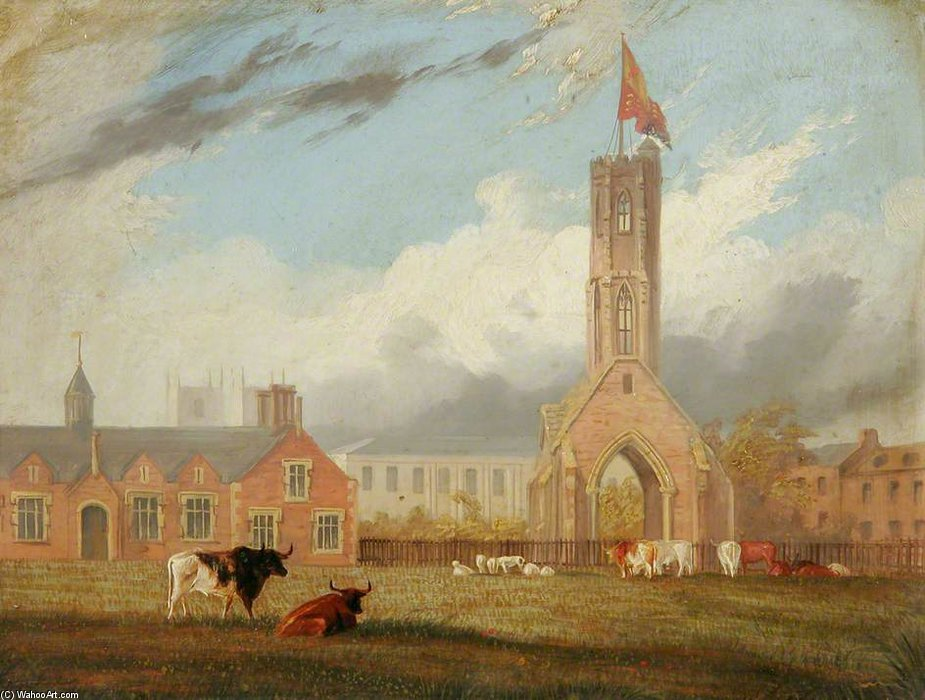 Greyfriars Turm, Norfolk von Thomas Baines (1820-1875, United Kingdom)