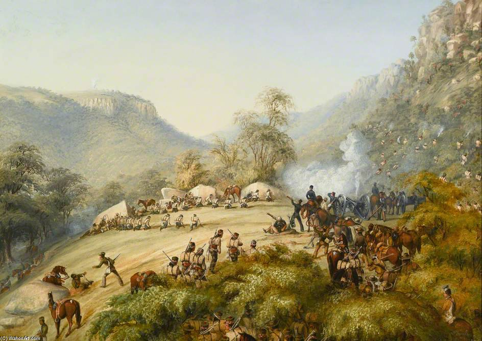Der 74. Above Waterkloof von Thomas Baines (1820-1875, United Kingdom)