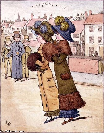 `out` für ein gang von Kate Greenaway (1846-1901, United Kingdom)