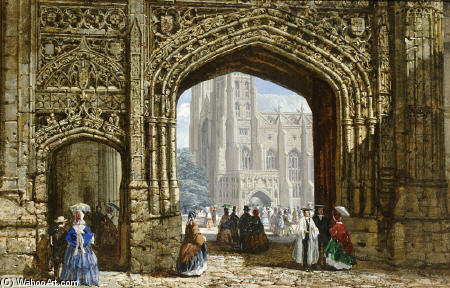 Canterbury Kathedrale von Louise Rayner (1832-1924, United Kingdom)