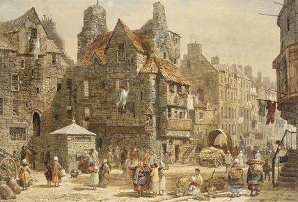 John Knox House, Edinburgh von Louise Rayner (1832-1924, United Kingdom)
