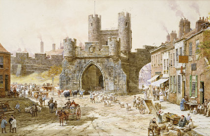 Walgate Bar, York von Louise Rayner (1832-1924, United Kingdom)
