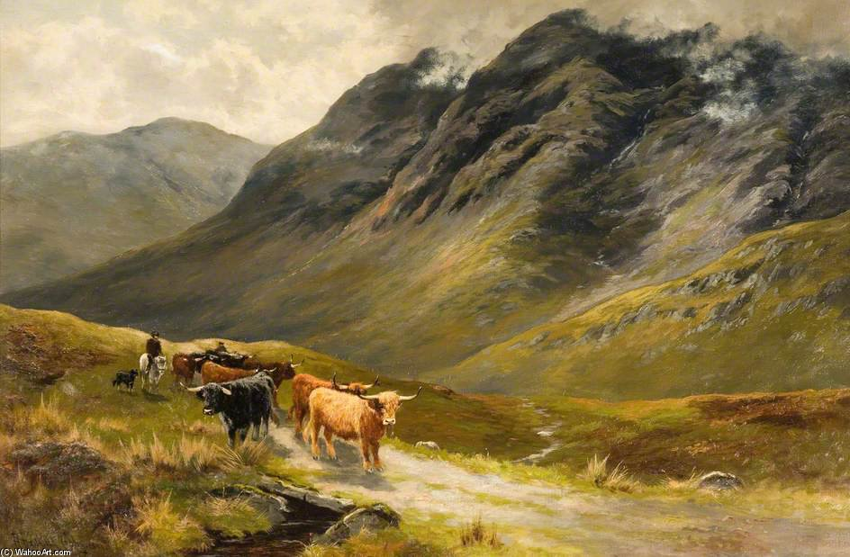 Highland Cattle von Henry Hadfield Cubley (1858-1934, United Kingdom)