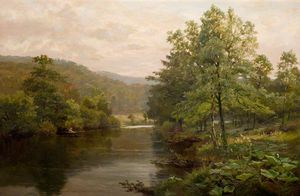 Henry Hadfield Cubley - On The Derwent, Derbyshire