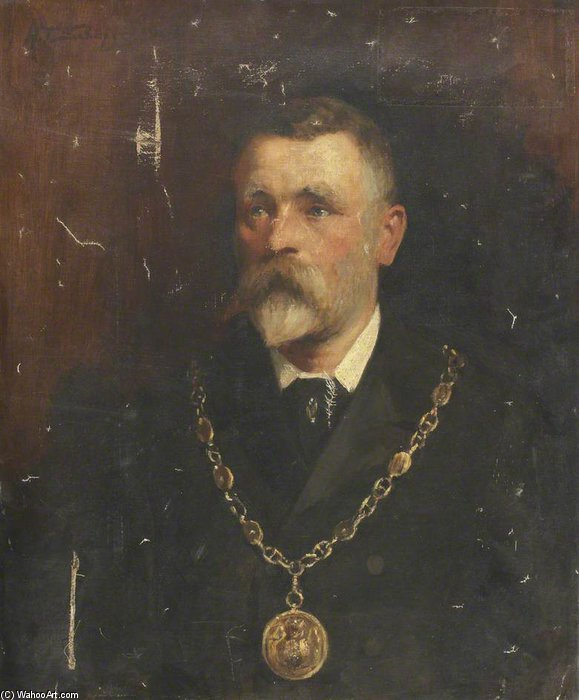 Edward Wadham, Esq., Bürgermeister von Barrow-in-Furness von Henry Thomas Schafer (1873-1915, France)