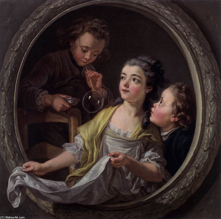 Soap Bubbles von Jean Baptiste Lallemand (1716-1803, France)
