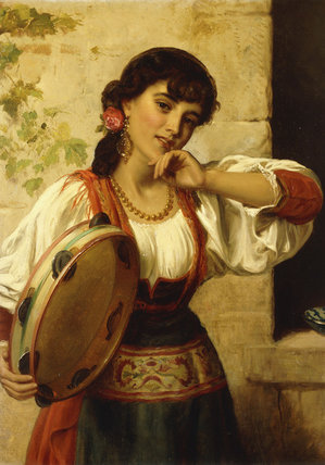A Dancer Neopolitan von John Bagnold Burgess (1829-1897, United Kingdom)