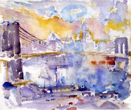 Brooklyn Bridge von John Marin (1870-1953, United States)