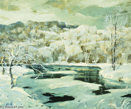 Frosted Trees von Jonas Lie (1880-1940, Norway)