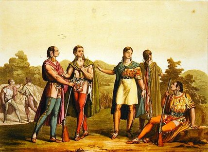 Indian Squaws von Gallo Gallina (1796-1874, Italy)