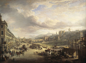 Alexander Nasmyth - Princes Street mit dem Beginn der Bau der Royal Institution