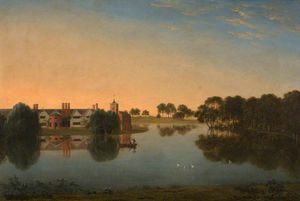 Anthony Devis - Tabley - The Old Hall Across T..