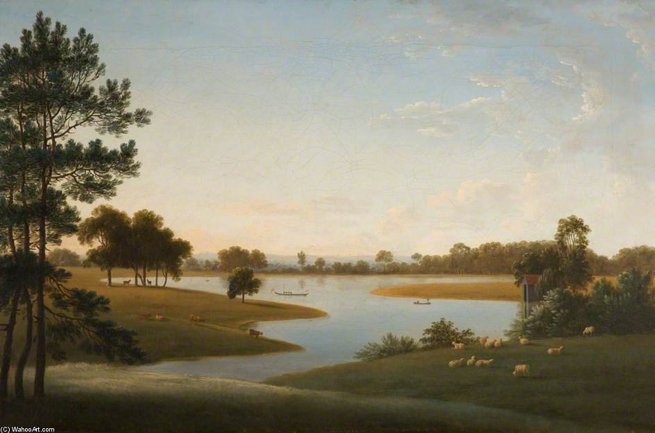 Tabley - den Park und Mere von Anthony Devis (1729-1816, United Kingdom)