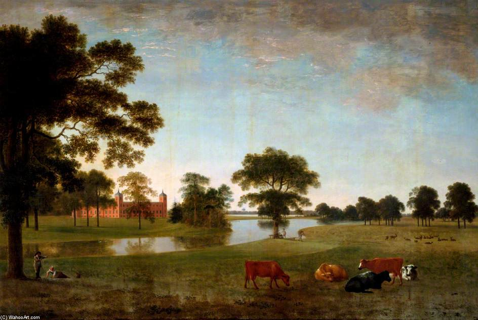 blick in Osterley park mit zwei kinder von Anthony Devis (1729-1816, United Kingdom)