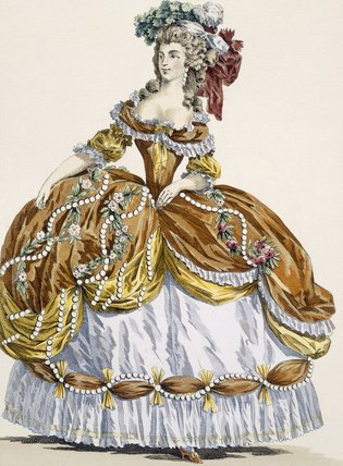 Grand Court Kleid In New Style, gestochen von Dupin von Augustin De Saint Aubin (1736-1807, France)