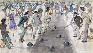 Charles Altamont Doyle - Curling Spiel On Duddingston L..