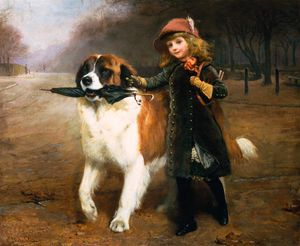 Charles Burton Barber - Off To School -