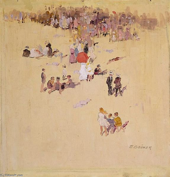 Bondi Beach von Elioth Gruner (1882-1939, New Zealand) | ArtsDot.com