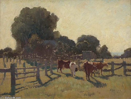 Eisiger Morgen von Elioth Gruner (1882-1939, New Zealand)