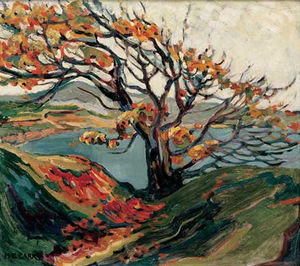 Emily Carr - baum in Herbst