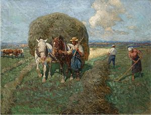 Francois Flameng - The Hay-Karte