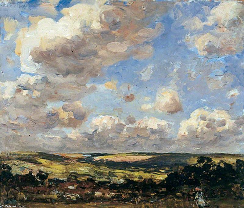 Hinderwell, North Yorkshire, A Breezy Day von Frederick William Jackson (1859-1918, United Kingdom)