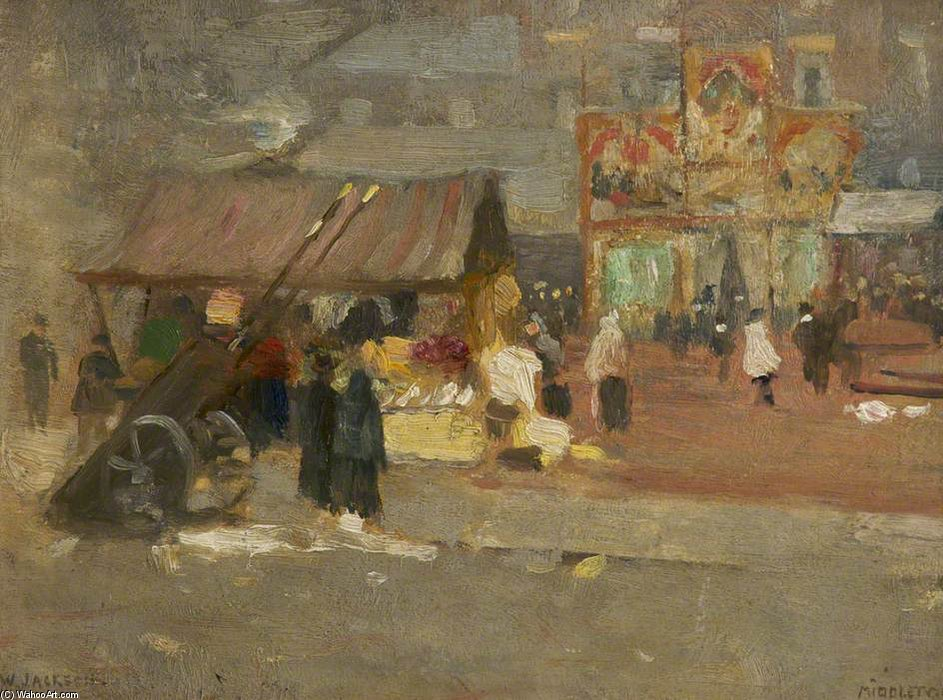 Middleton Markt von Frederick William Jackson (1859-1918, United Kingdom)