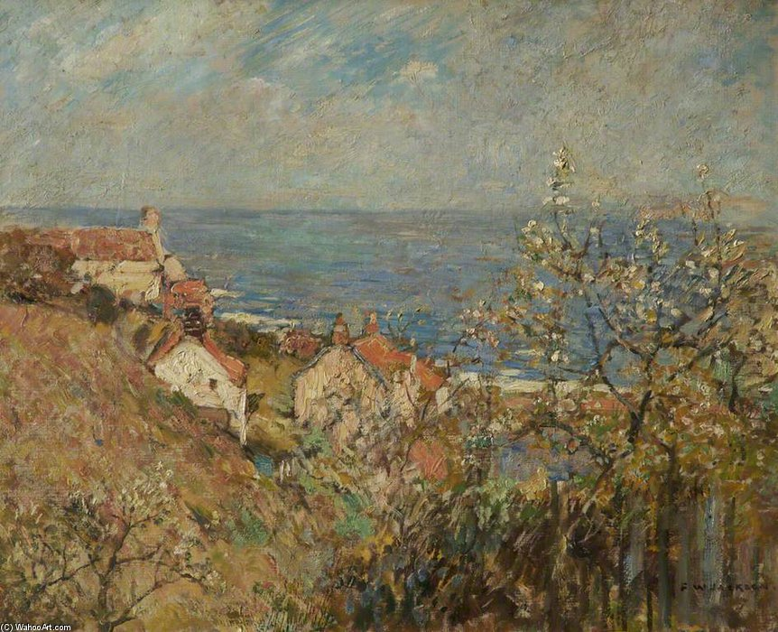 Runswick Bay von Frederick William Jackson (1843-1942, United States)