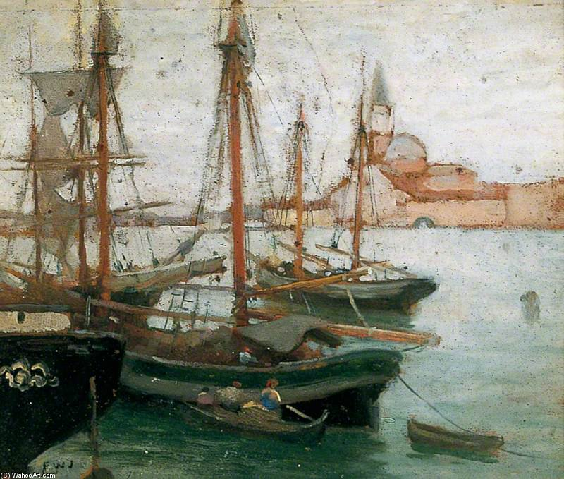 schiffe an  Venedig  von Frederick William Jackson (1843-1942, United States)