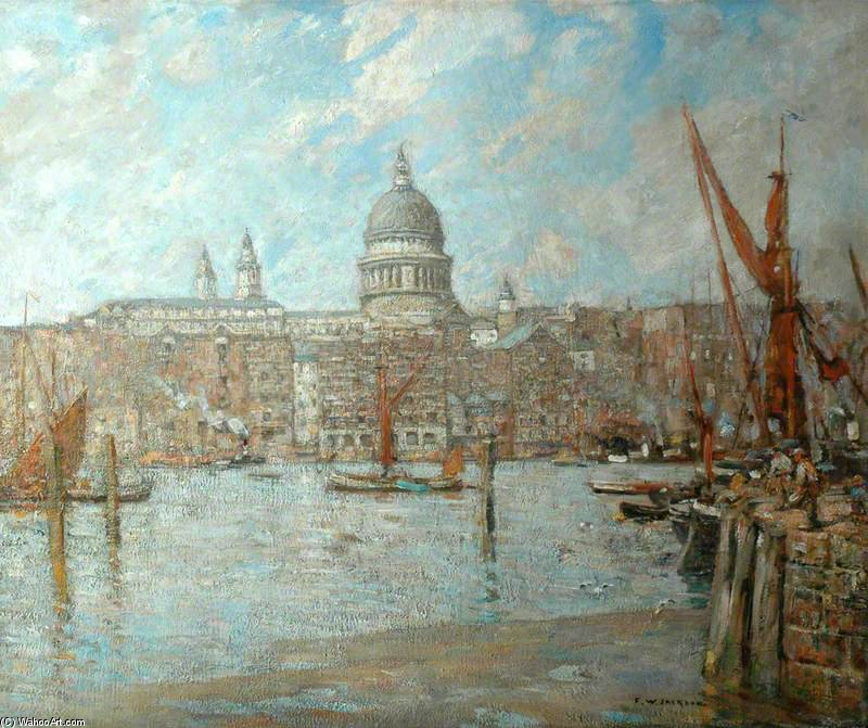Str Paul's , London untergebracht von Frederick William Jackson (1859-1918, United Kingdom)
