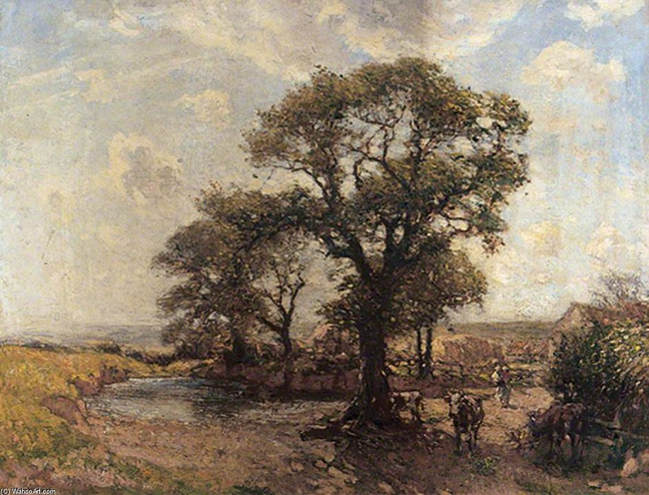 dem Bauernhof Stau von Frederick William Jackson (1859-1918, United Kingdom)