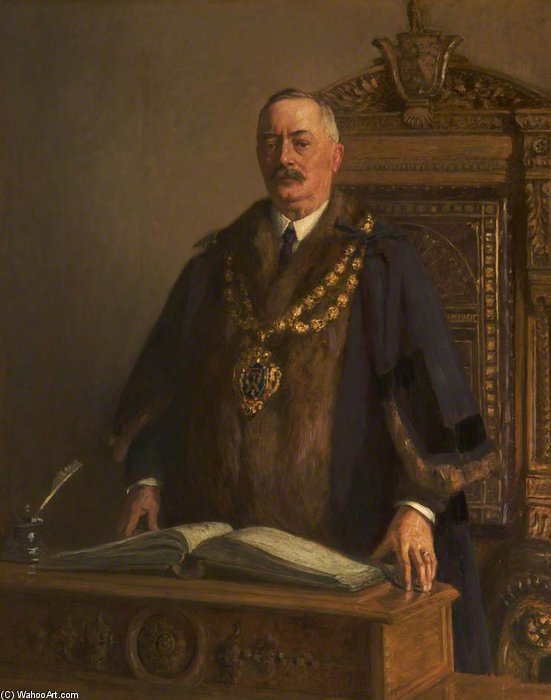 Thomas Bolton, Bürgermeister von Oldham von Frederick William Jackson (1859-1918, United Kingdom)