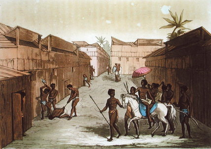 Method Of Punishment In Benin von Gallo Gallina (1796-1874, Italy) | Malerei Kopie | ArtsDot.com