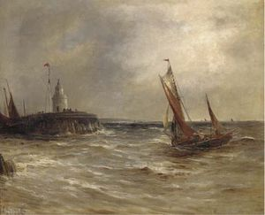 Gustave De Breanski - Laufen in Harbour