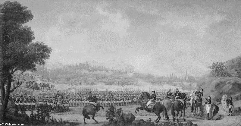 Battle Of Valkeala von Pehr Hillestrom (1732-1816, Sweden)