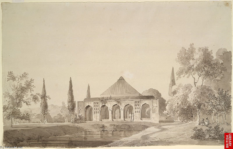 Jahangir Khan Garten, Najibabad von Thomas And William Daniell (1769-1837, United Kingdom)