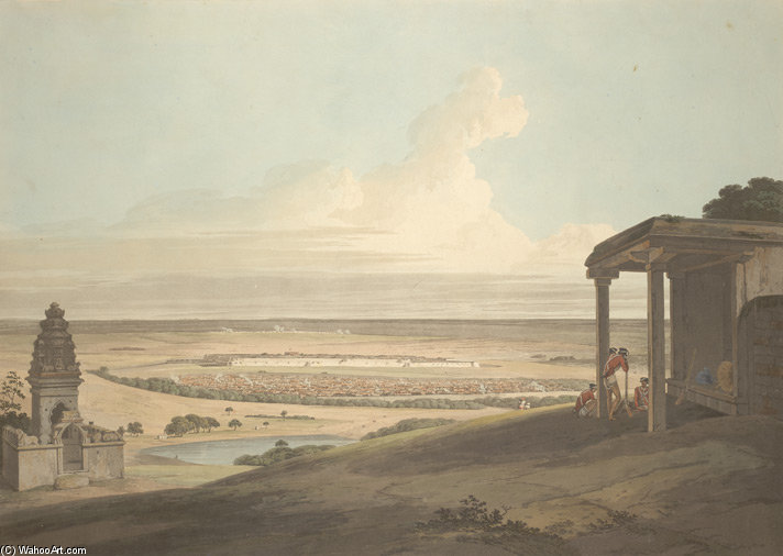 Ousoor In The Mysore von Thomas And William Daniell (1769-1837, United Kingdom)