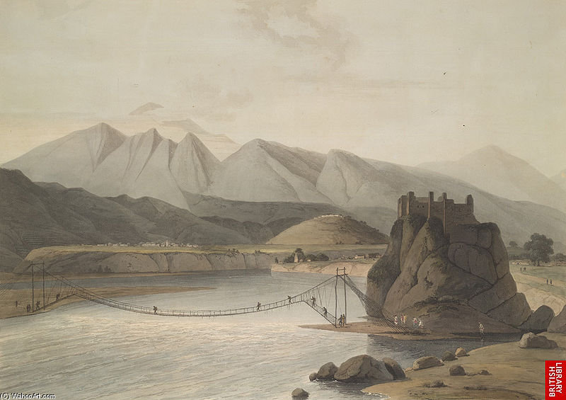 Srinagar, Garhwal von Thomas And William Daniell (1769-1837, United Kingdom)