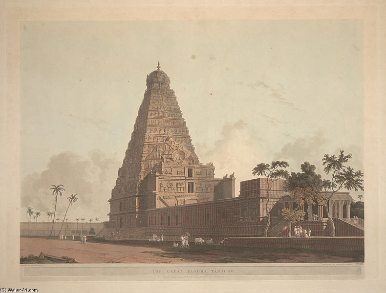 die großen Pagode , Tanjore von Thomas And William Daniell (1769-1837, United Kingdom)