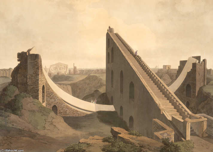 Die Sternwarte in Delhi von Thomas And William Daniell (1769-1837, United Kingdom)