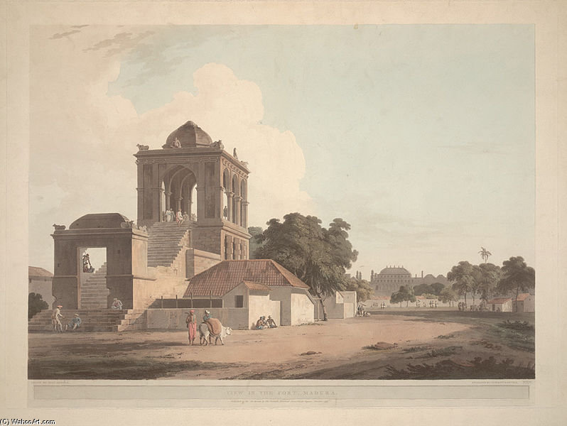 Ansicht in den Fort, Madura von Thomas And William Daniell (1769-1837, United Kingdom)