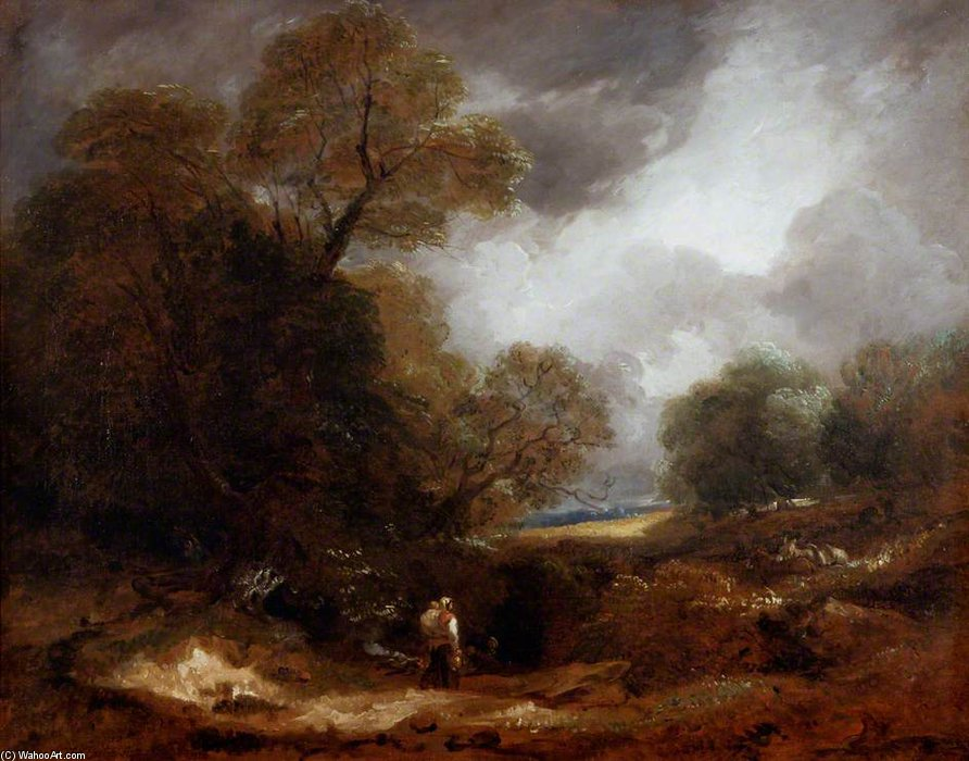 landschaft mit figuren von Thomas Barker (1769-1847, United Kingdom)