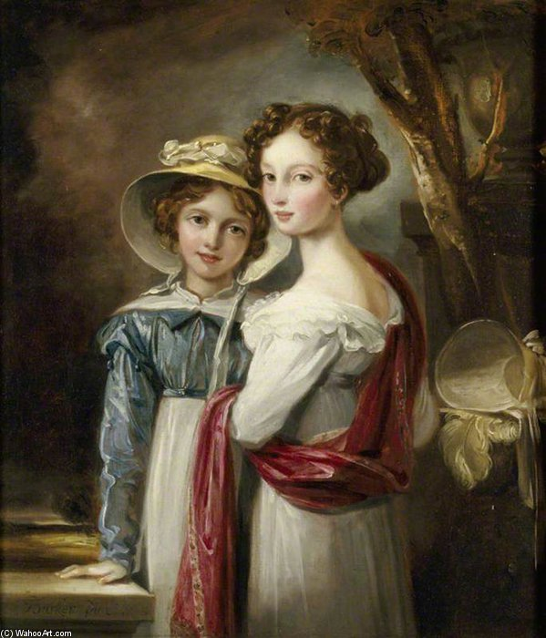 Laura May Elton, und Julia Elizabeth Elton von Thomas Barker (1769-1847, United Kingdom)