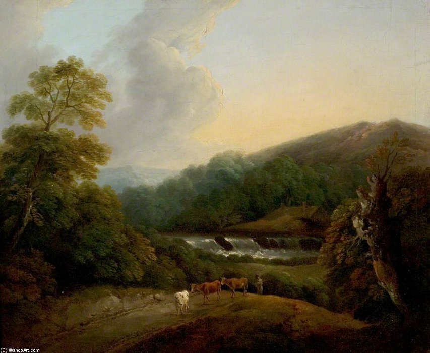 Berglandschaft von Thomas Barker (1769-1847, United Kingdom)